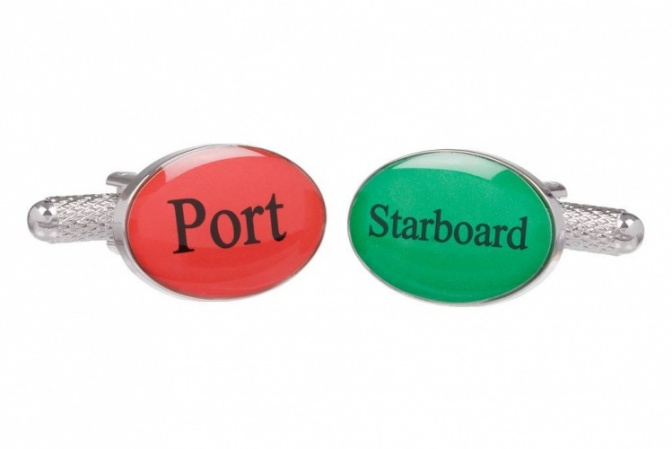 Port and Starboard Cufflinks